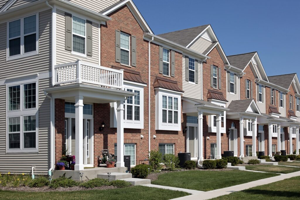 Townhouses with good mortgages